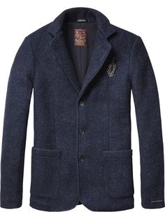 Basic Knitted Blazer | Inbetweens Jackets | Men's Clothing at Scotch & Soda