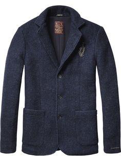 Basic Knitted Blazer   Inbetweens Jackets   Men's Clothing at Scotch & Soda
