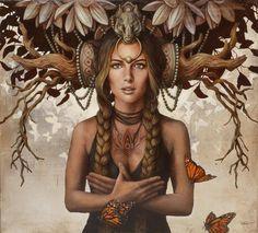Gaelle Canvas Print by Sophie Wilkins Art Print Illustrations, Illustration Art, Art Visionnaire, Foto Fantasy, Magic Realism, Visionary Art, Fantastic Art, Awesome, Surreal Art