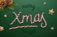 Christmas text effect by Evlogiev on Creative Market