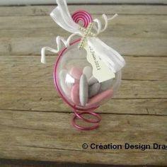 Ronds de serviette marque place en origami pour mariage - rose ...