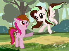 two ponies by dawkinsia.deviantart.com on @DeviantArt