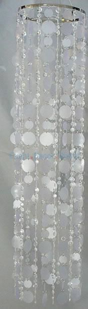 """44"""" PVC Disk Round Chandelier - Crystal"""