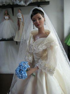 Barbie's wearing a Filipiniana Dress Wedding Doll, Barbie Wedding, Wedding Bride, Barbie Bridal, Dream Wedding, Filipiniana Wedding Theme, Filipiniana Dress, Filipiniana Modern, Bridal Gowns