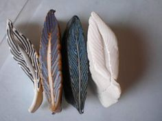 Polymer clay feather cane tutorial!