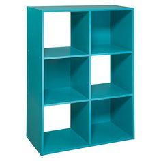 Room Essentials 6 Cube Organizer in Turquoise 6 Cube Organizer, Mint Rooms, Turquoise Room, Cubby Storage, Storage Cubes, Storage Ideas, Dorm Storage, Craft Storage, Cube Shelves