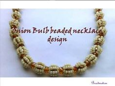 Onion bulb beaded necklace or bracelet tutorial. You can also make two or more strands to create multilayer necklace. Tatting Jewelry, Beaded Necklace, Beaded Bracelets, Necklace Tutorial, Bracelet Crafts, Beaded Jewelry Patterns, Simple Necklace, Beading Tutorials, Bead Weaving
