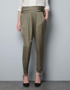 Trousers - Woman - ZARA
