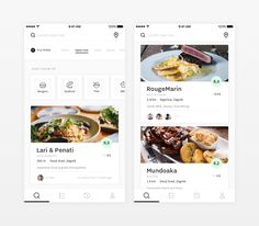 Fundamental Concepts of List UI Design for Mobile Apps - Ulana Liuzan - Dekoration Web Design, App Ui Design, User Interface Design, Flat Design, Mobile App Design, Mobile App Ui, Mobile Restaurant, Restaurant Design, Hotel App