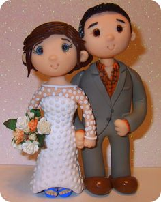 Wedding Cake Toppers | custom made personalized wedding cake toppers by Tinylovetoppers