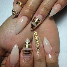 ♥️ gradient stiletto nails