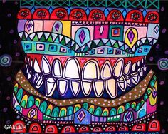 With Dia de los Muertos just a few days away, I found this cool, colorful teeth artwork online, in the same style. The Day of the Dead, known in Spanish as Dia de los Muertos, is a two-day holiday honoring the spirits of the deceased. The celebration coincides with the Catholic holidays of All Saints' Day on November 1 and All Souls' Day on November 2.