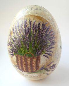 decoupage - inne-jajo lawendowe Decoupage, Egg Art, Spring Crafts, Art Techniques, Happy Easter, Easter Eggs, Illustration, Purple, Tableware