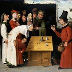 Scuola di Hieronymus Bosch - Il ciarlatano, post 1500 - Olio su tavola, 83,3 x 114 cm - Gerusalemme, The Israel Museum