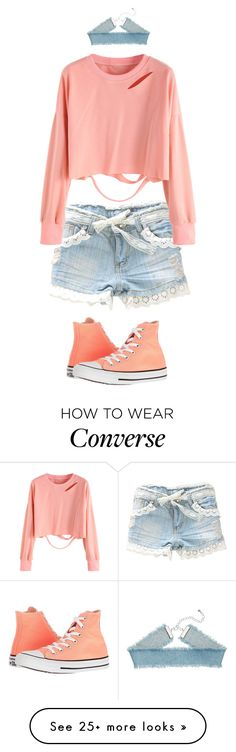 """Unbenannt #387"" by kitty-lm on Polyvore featuring Converse"