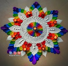 Rangoli Designs for Diwali 2019 Diwali is called the festival of lights and it's been celebrated all over India since the king's ruler period like we all know rangoli is really an important tradition for Diwali it's how we decorate ou Easy Rangoli Designs Videos, Rangoli Designs Simple Diwali, Rangoli Designs Latest, Rangoli Designs Flower, Rangoli Patterns, Free Hand Rangoli Design, Small Rangoli Design, Rangoli Border Designs, Rangoli Ideas