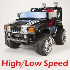12V RC BATTERY POWER KIDS RIDE ON HUMMER JEEP CAR BIG WHEELS & R/C REMOTE MP3