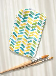 Neceser diagonales de color #DaWanda #diseño #handmade #hechoamano