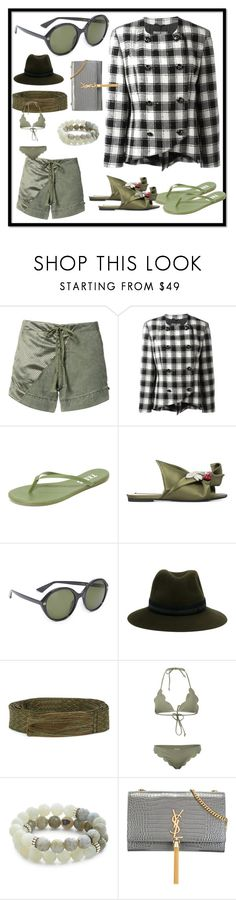 """""""fashion for women's"""" by denisee-denisee ❤ liked on Polyvore featuring Greg Lauren, Pierre Cardin, Tkees, N°21, Gucci, Maison Michel, Étoile Isabel Marant, Marysia Swim, Lacey Ryan and Yves Saint Laurent"""