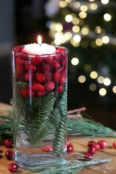 Einfache Cranberry Evergreen Jars Urlaub DIY Dekor - Our Wedding - Winter Winter Wedding Centerpieces, Simple Centerpieces, Flower Centerpieces, Centerpiece Ideas, Graduation Centerpiece, Quinceanera Centerpieces, Anniversary Centerpieces, Table Decorations, Cranberry Centerpiece