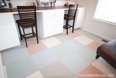 Great flooring - pretty, and looks durable - you wouldn't have to worry too much about it
