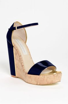 Stella McCartney Open Toe Wedge Sandal