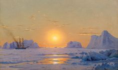 William Bradford  Off the Greenland Coast Under the Midnight Sun