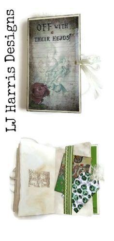 Alice in Wonderland Hard Back Junk Journal. £30.00 + pp
