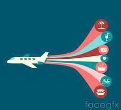 Creative flight holiday element vector