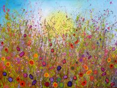 'The wild wild garden of our love' by Yvonne Coomber - £2640 - 120x90cms - www.lyndhurstgallery.co.uk