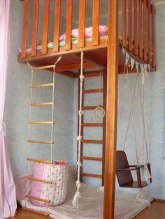 Indoor Jungle Gym, Indoor Climbing Gym, Kids Bedroom, Bedroom Decor, Indoor Play Areas, Nautical Bedroom, Loft Interior Design, Loft Interiors, Backyard Playground