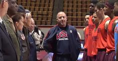 This should be done with every sports team: Basketball coach Buzz Williams of Virginia Tech noticed for years that many college players wouldn't pay attention and show respect during the National Anthem.