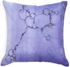 [close-up] abcDNA Varuna Sea Pillow with beautiful high res details. Light periwinkle.