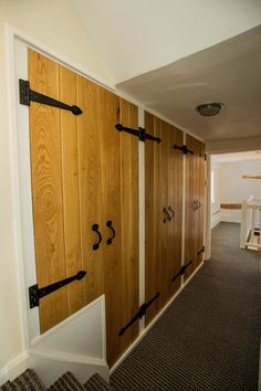 Oak Shoe Storage Units with Ledged & Braced doors