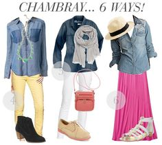 Sweetie Pie Style: 6 Ways to Wear a Chambray Top!