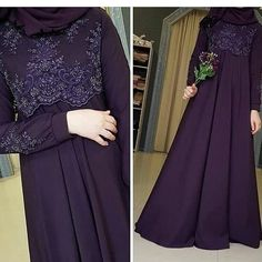 Abaya hijab Muslim Abaya kfat Muslim off voilt Muslim Prom Dress, Muslimah Wedding Dress, Hijab Style Dress, Muslim Wedding Dresses, Abaya Fashion, Muslim Fashion, Fashion Dresses, Little Girl Dress Patterns, Little Girl Dresses