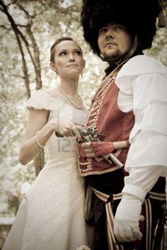 Russian Hussar & his bride. Russian Brides, Napoleon, Women, Fashion, Moda, Fashion Styles, Fashion Illustrations, Woman