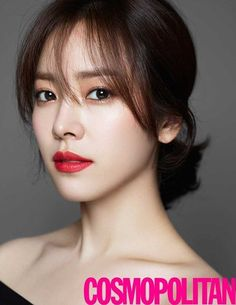 Actress Han Ji-min is a enthralling fall woman in her new pictorial for magazine Cosmopolitan. The synonymous name for a pure and innocent image, actress Han Ji-min has presented the five fall makeup looks in her pictorial taken for magazine Cosmopolitan. Korean Makeup Tips, Asian Makeup, Korean Beauty, Asian Beauty, Bridal Makeup Red Lips, Red Lipstick Makeup, Wedding Makeup, Bright Lipstick, Han Ji Min