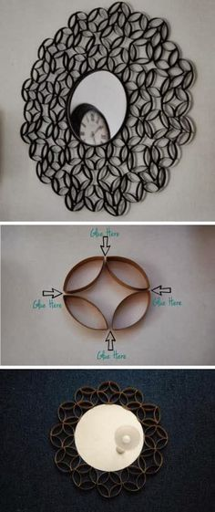DIY-Toilet-Paper-Roll-Round-Mirror-Frame for you
