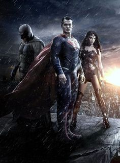 Batman v Superman Dawn Of Justice Trinity Gallery Print