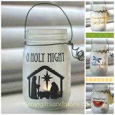 25 Best Christmas Nativity Crafts for Kids in Your Children's Ministry - Mason Jars Christmas Vinyl, Christmas Nativity, Christmas Projects, Holiday Crafts, Christmas Crafts, Christmas Decorations, Christmas Bells, Christmas Printables, Summer Christmas