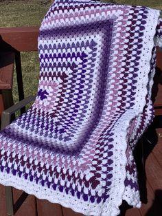 Crochet Blanket Patterns, Crochet Afghans, Rainbow Zebra, Crochet Needles, Fabric Scissors, Security Blanket, Shades Of Purple, Basic Colors, Handmade Crafts