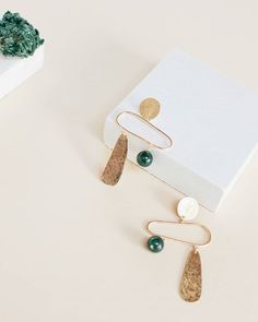 When I went out to lunch with my grandma recently she said the Pillar Earrings are her favorite so this post is for her - inspired by Stonehenge and available in 14k gold-filled and sterling silver #wkndla #slowfashion #garmentory #designmilkeveryday #adornmilk #tictail