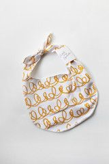 The French Terry Bib // Marigold Scribble // LHS Basics Collection