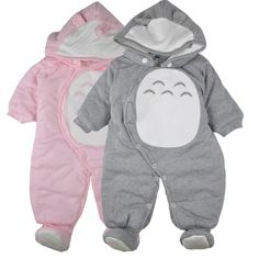 Promotion price Newborn Clothes baby rompers one-piece thick hooded warm in autumn winter romper animal style Totoro for girl boy just only $19.55 - 20.55 with free shipping worldwide  #babyboysclothing Plese click on picture to see our special price for you