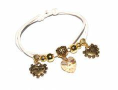 Bransoletki Sznurkowe Serce Love Amour i Swarovski Heart. 700 Kolorów #Swarovski #jewelry #bizuteria