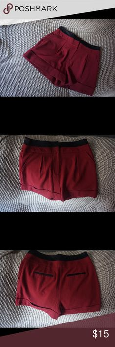 Burgundy/Black Dressy Shorts These shorts are so pretty and versatile because you can wear them casually or throw on some heels and hit the town in them because they look dressy. ❤️ Forever 21 Shorts