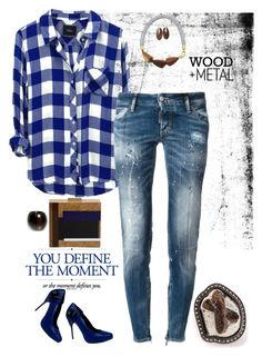 """""""Cool blues - plaid shirt with Dsquared2 jeans"""" by riquee ❤ liked on Polyvore featuring мода, Dsquared2, Tory Burch, Gianmarco Lorenzi, GUESS, Monies, Marni и Kelly Wearstler"""