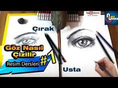 Adım Adım Gerçekçi Göz Çizimi Nasıl Yapılır | Karakalem | Resim Dersi - YouTube Drawings, Youtube, Sketches, Drawing, Portrait, Youtubers, Draw, Grimm, Youtube Movies