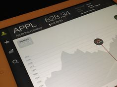 Dribbble - iPad Stocks App by Eric Hoffman